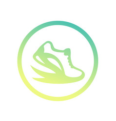 Running logo element icon over white vector