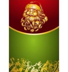 Santa Claus Christmas symbol hand drawn vector