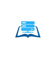 Server book logo icon design vector