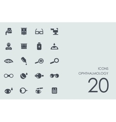 Set of ophthalmology icons vector