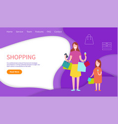shopping professional analyze and strategic vector image