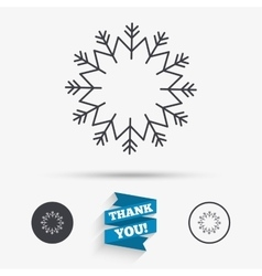 Snowflake artistic sign icon Air conditioning vector image
