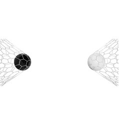 Soccer or football 3d black and white ball vector