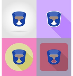 sport flat icons 25 vector image
