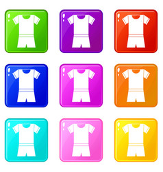Sport shirt and shorts set 9 vector