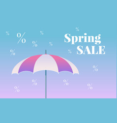 spring sale colorful banner vector image