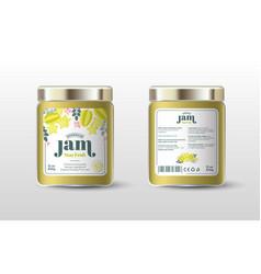 Star fruit jam label jar packaging sugar free vector