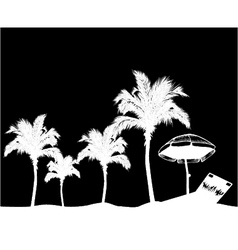 Summer background with palm trees vector