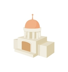 Temple building icon cartoon style vector image
