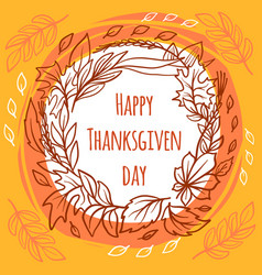 thanksgiving day concept background hand drawn vector image