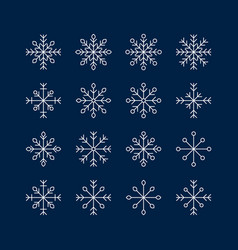 The snowflake set vector