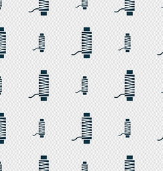 Thread Icon sign Seamless pattern with geometric vector