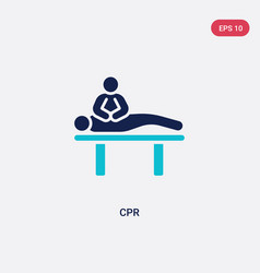 Two color cpr icon from humans concept isolated vector