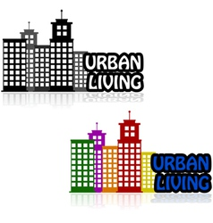 Urban living vector image