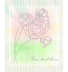 Vintage flower greeting card vector image