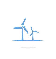 wind turbine icon on white background vector image