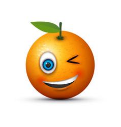 Winking orange vector