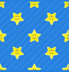 yellow stars seamless pattern vector image