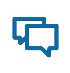 a simple blue icon about the message chat or vector image vector image