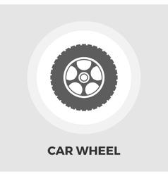 Car wheel flat icon vector image