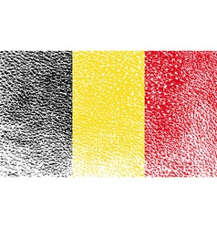 Flag of Belgium with old texture vector image