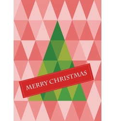 retro pattern of geometric shapes with christmas vector image vector image