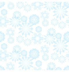 Seamless snowflake pattern for christmas vector image vector image