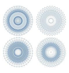 Set of ornament rosettes vector image