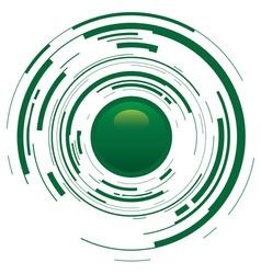 abstract broken button vector image vector image