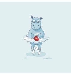 Emoji character cartoon vector image