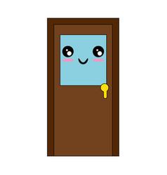 isolated big door vector image