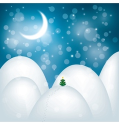 magic Christmas landscape vector image