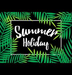 Summer holiday beach palm with dark background vector