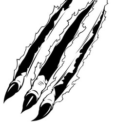 Claws Ripping Paper vector image vector image