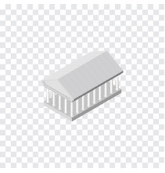 isolated acropolis isometric athens vector image