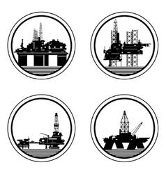 Oil platforms vector image vector image