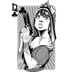 queen gun vector image