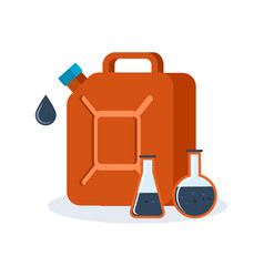 red container for fuel filled with gasoline vector image