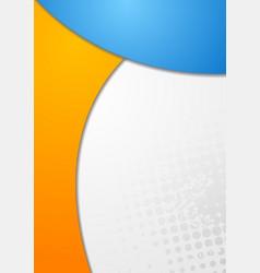 Bright wavy abstract backdrop vector image vector image