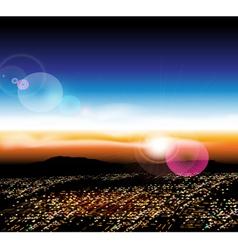 City with a birds eye view vector