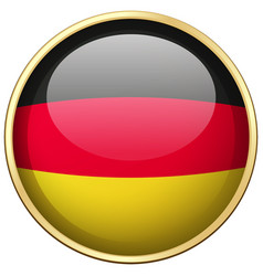 germany flag on round badge vector image vector image