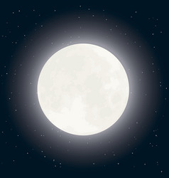 moon and stars on dark sky vector image vector image