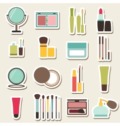 Set of beauty and cosmetics colorful icons vector image