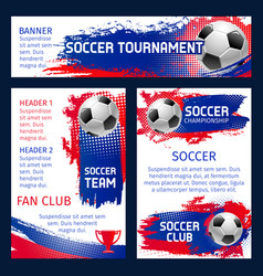Soccer team football championship posters vector