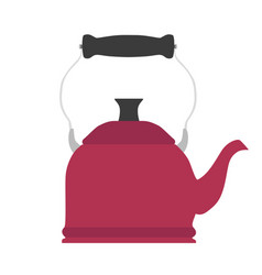tea kettle teapot kitchen design vector image