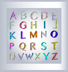3d alphabet separated alphabet letters vector