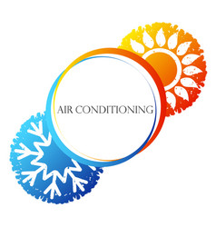 air conditioning sun and snowflake vector image