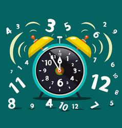 Alarm clock ringing time symbol vector