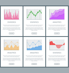 analytics and statistics page vector image