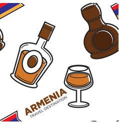 armenia travel destination alcohol drinks vector image